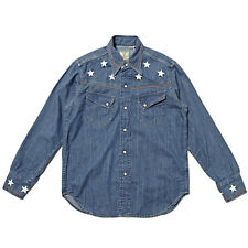 LEVI'S VINTAGE CLOTHING 50S WESTERN DENIM SHIRT STAR EMBROIDERY RRP £160