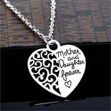 """New Fashion Mother Day Gifts Jewelry """"Mother Daughter"""" Heart Pendant Necklace"""