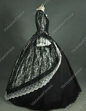 Marie Antoinette Victorian Dress Theatre Gown Reenactment Halloween Costume 164