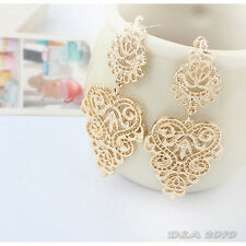 Fashion Bohemia Style Silver Gold Hollow Out Magnificent Earrings Dangle Women