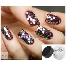 1Box Nail Art Holo Glitter Hexagon Round Dust Power Sheets Nail Decoration Charm