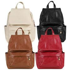 Girls Women Backpack Leather Travel Rucksack Handbag Shoulder School Book Bag