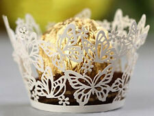 Laser Cut Butterfly Cupcake Wrappers Liners Party Wedding Decor Place Supplies