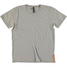 NUDIE JEANS CO ROUND NECK TEE GREY MELANGE NEW T SHIRT ORGANIC COTTON