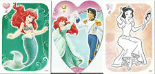 TOPPS DISNEY PRINCESS HEART GLITTER COLOUR CARDS PICK THE ONES YOU NEED