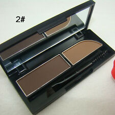 Makeup Cosmetic Shiny Eye shadow Eyebrow Eye Brow Powder Palette 2 Shades