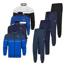 Puma Poly Mens Logo Tracksuit Set - Top & Bottoms