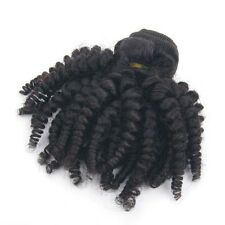 100% Virgin Peruvian Human Hair Weave 1 Bundle Afro Kinky Curly Hair Extensions