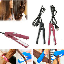Portable Mini Ceramic Hair Style Curl Curler Straightener Flat Iron Perm Splint