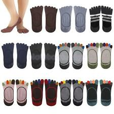 Pair Women Cotton Five Finger Toe Socks Breathable Ankle Socks Invisible Low Cut