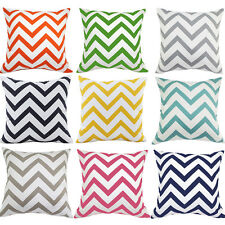 Colorful Wavy Stripes Home Decorative Sofa Cushion Cover Throw Pillow Case 16x16