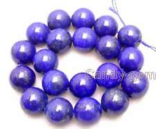 "SALE Big 20mm Round Blue natural lapis lazuli loose beads strand 15""-los633"