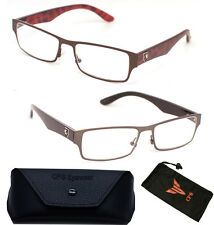 Latest Designer Nerd Square Metal Reading Glasses Optical Frame Women Men Reader