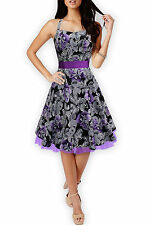 'Rhya' Vintage Liberty 50's Floral Swing Pin Up Rockabilly Party Prom Dress