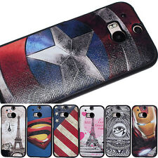 Marvel hero Captain America silvery star shield Case cover skin for HTC One M8
