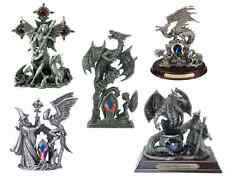 Myth & Magic Collectible Pewter Dragons Wizards with Swarovski Crystal Elements