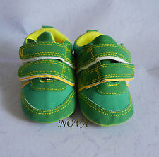 lovely green boy infant toddler shoes baby boy shoes  size1,2,3,