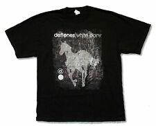 """DEFTONES """"WHITE PONY DISTRESSED"""" BLACK T-SHIRT NEW OFFICIAL ADULT"""