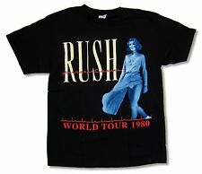 "RUSH ""WORLD TOUR 1980"" BLACK BAND T-SHIRT NEW OFFICIAL ADULT"