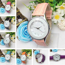 Fashion Man Women Leisure Wrist watch Retro Faux Leather Analog Quartz Watch hot