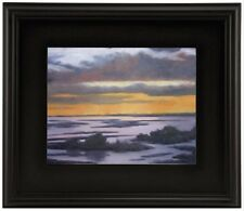 """3"""" WIDE CLASSIC MODERN PICTURE PAINTING FRAME PLEIN AIR WOOD BLACK LEAF Free Sh"""