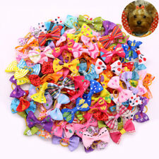 Top Quality 16 Design dog hair bows clips/rubber bands pet grooming hair bows
