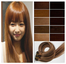 30'' 120g Long Full Clip In Hair 100%  AAA Remy Real Human Hair Extensions 7Pcs