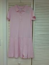 Girls, Lands End , Ice Pink Mesh Polo Dress, School Uniform, NWT