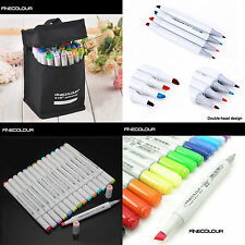 FINECOLOUR EF101 24/36/60/72/112 Colors Marker Pen Set Sketch Twin Tips With Bag