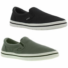 New Crocs Norlin Slip On Mens Grey Canvas Shoes Trainers Size UK 7-12