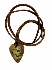 Guitar Pick Necklace - Where Words Fail Music Speaks - Guitar and Notes