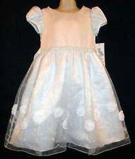 White formal dress beaded floral soutache girls 5 6X Rare Editions NWT