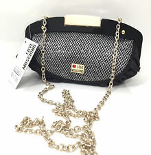 BORSA DA DONNA BORSA CLUTCH LOVE MOSCHINO SATIN SHINING NERO BS15MO124