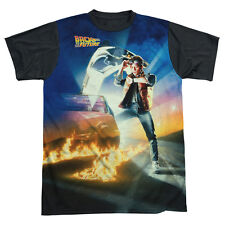 Back To The Future Movie Poster - Adult T-Shirt - Sublimation (Black Back) Uni69