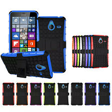 For Microsoft Nokia Lumia 640XL Hybrid Hard Rugged Grip Armor Cover Stand Case