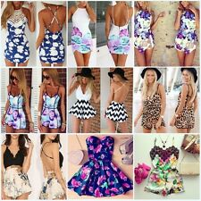 Summer Womens Ladies Celeb Sexy Playsuit Jumpsuit Mini Shorts Sun Dress UK CHEAP