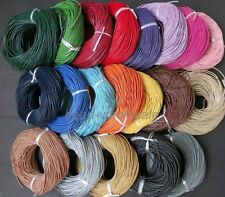 New 3M/5M/10M Real Leather Necklace Rope String Cord Findings 1/1.5/2/2.5/3 mm