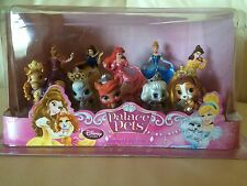 DISNEY Store Principessa Disney & PALACE PETS 10 Figure Deluxe Play Set NUOVO CON SCATOLA