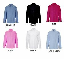 Mens Long Sleeve Formal Shirts Size S to 3XL WORK CASUAL - WAREHOUSE STOCK - BTC