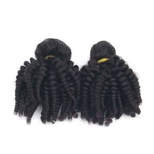 Malaysian 150g/3 Bundles Virgin Hair Weave Afro Kinky Curly Human Hair Extension