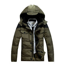 Fashion Mens Duck Down Puffer Parka Hooded Winter Warm Waterproof Jacket Coats