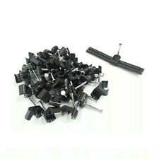 100 X BLACK TWIN SHOTGUN COAX CABLE CLIPS 4 WF65 / CT63 SKY + PLUS HD TWIN CABLE