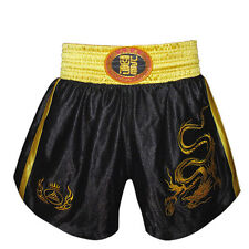 MMA Muay Thai Kick Boxing Shorts Embroidered Dragon Fight Martial Art Clothing