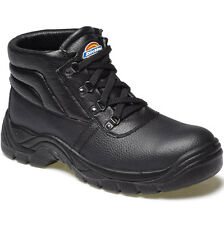 MENS DICKIES REDLAND BLACK LEATHER SAFETY WORK BOOTS SIZE UK 6 - 14 FA23330