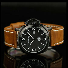 INFANTRY Luxury Military Army Sport Date Leather Analog Mens Quartz Wrist Watch