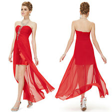 Ever Pretty Red Strapless Rhinestones Chiffon Party Wedding Cocktail Dress 08120