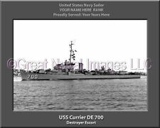 USS Currier DE 700 Personalized Canvas Ship Photo Print Navy Veteran Gift