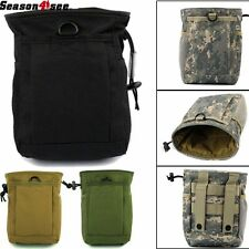 Tactical Military Paintball Molle Magazine Mag Dump Drop Small Pouch Bag