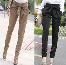 Sexy Women Fashion bowknot Skinny Long Trousers OL Casual Slim Harem pants D103