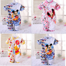 Long Sleeve Newborn Toddler Boys Girls Minnie Mouse Babygrows 0-18M Romper Pants